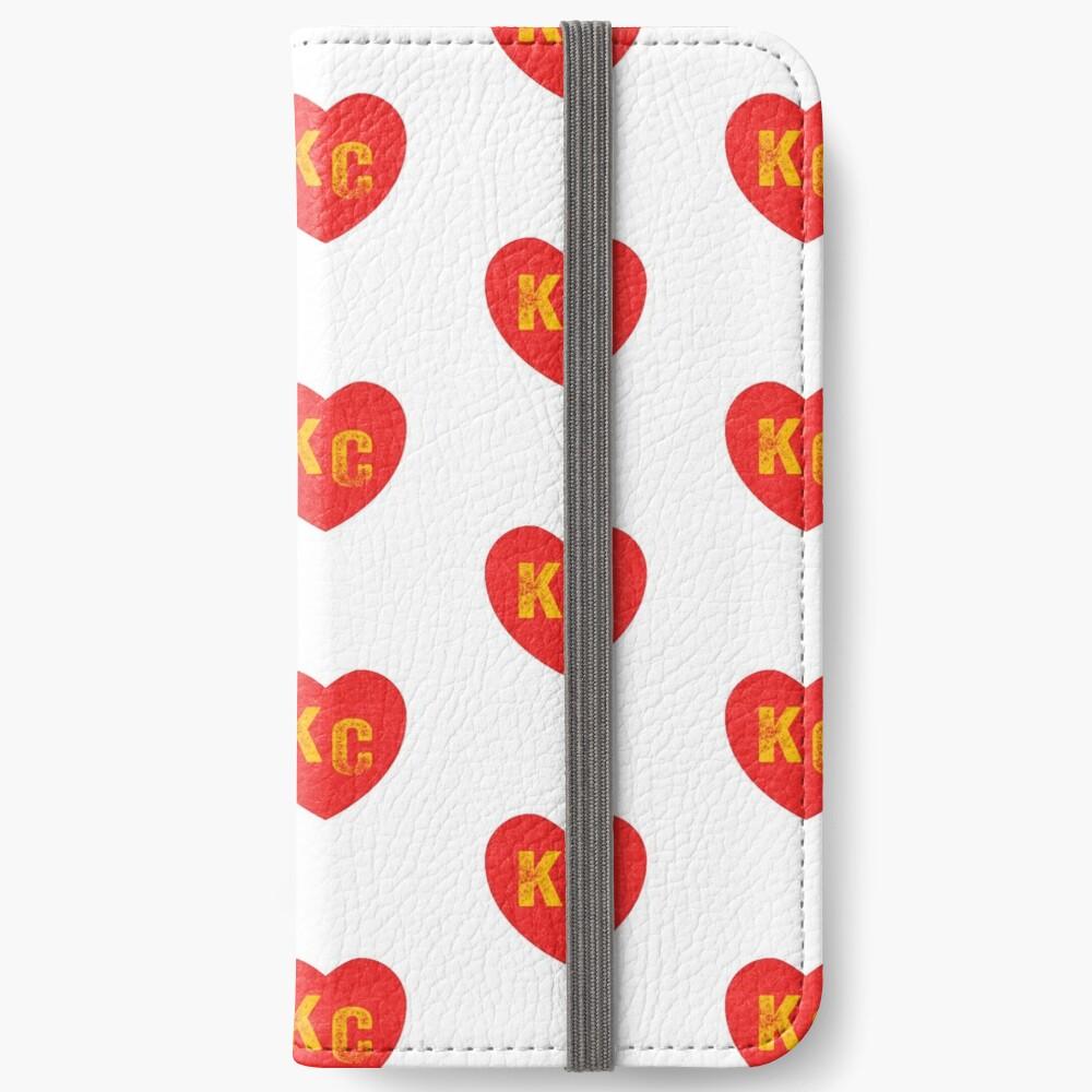 KC Heart Kansas City Hearts I love Kc heart monogram KC Face mask Kansas City facemask iPhone Wallet