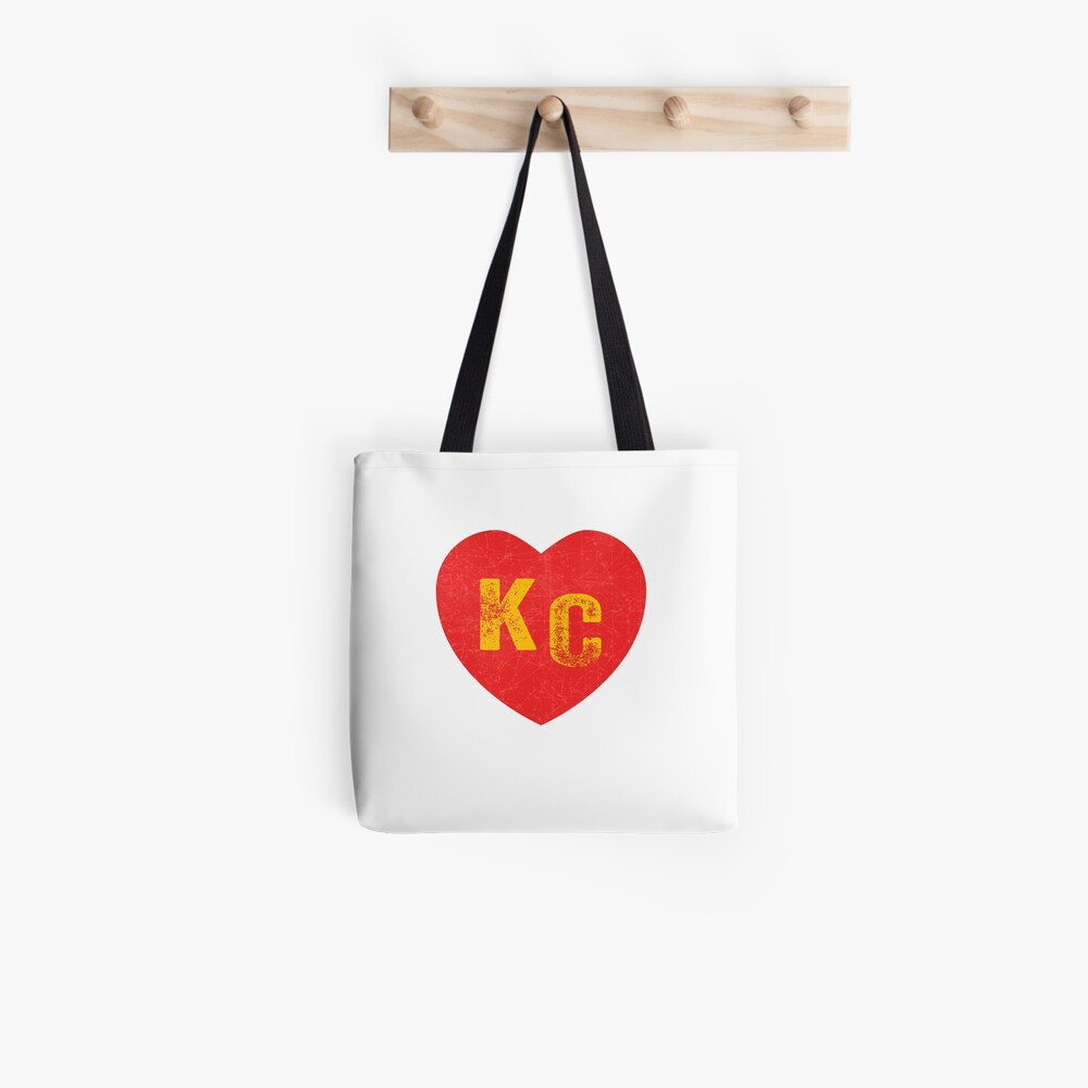 KC Heart Kansas City Hearts I love Kc heart monogram KC Face mask Kansas City facemask Tote Bag