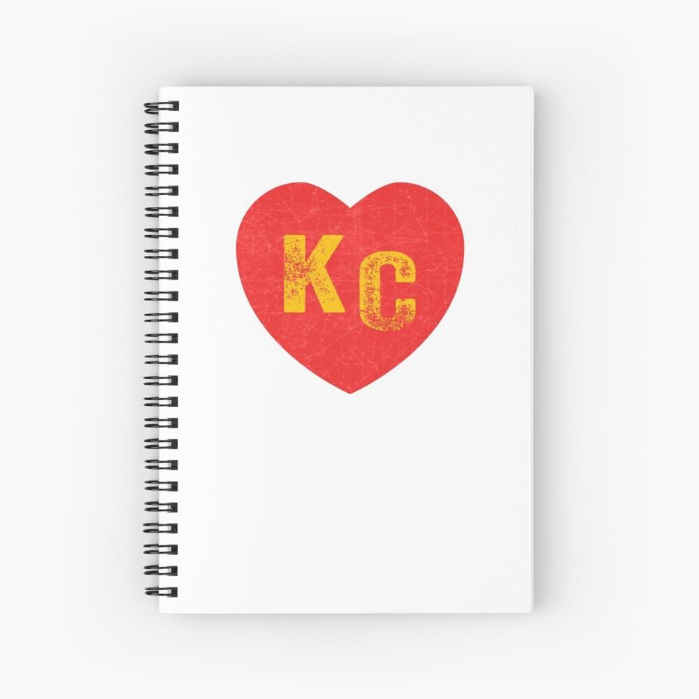 KC Heart Kansas City Hearts I love Kc heart monogram KC Face mask Kansas City facemask Spiral Notebook