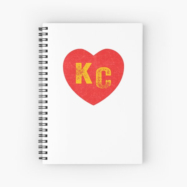 KC Heart Kansas City Hearts I love Kc heart monogram KC Face mask Kansas City facemask Spiral Notebook