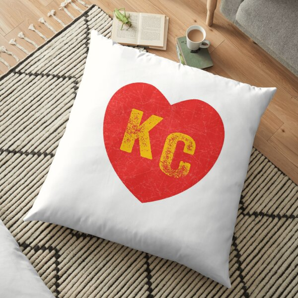 KC Heart Kansas City Hearts I love Kc heart monogram KC Face mask Kansas City facemask Floor Pillow