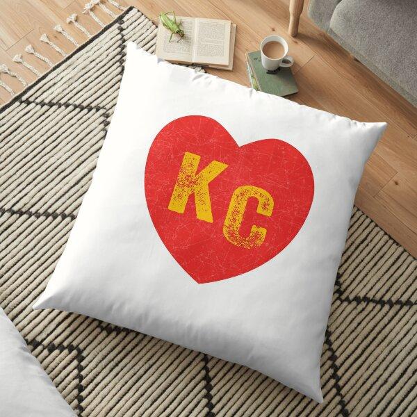 KC Heart Kansas City Hearts I love Kc heart monogram KC Face mask Kansas City facemask Floor Pillow
