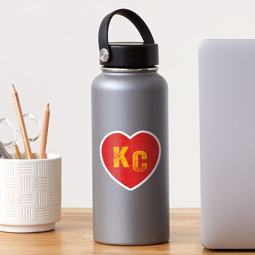 KC Heart Kansas City Hearts I love Kc heart monogram KC Face mask Kansas City facemask Sticker
