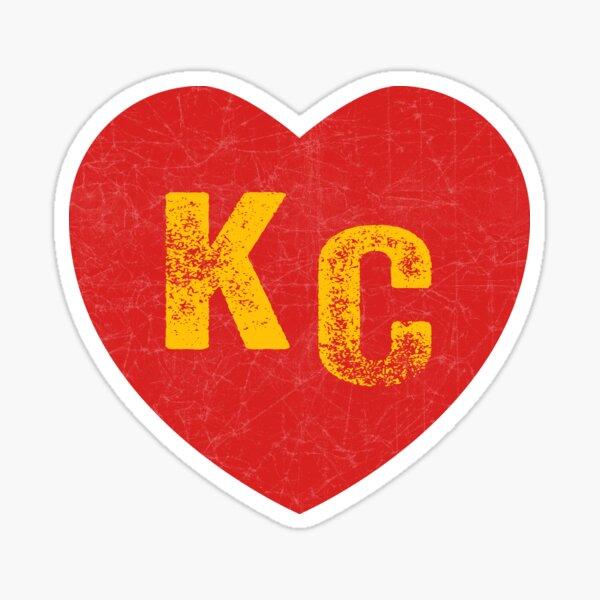 KC Heart Kansas City Hearts I love Kc heart monogram KC Face mask Kansas City facemask Sticker