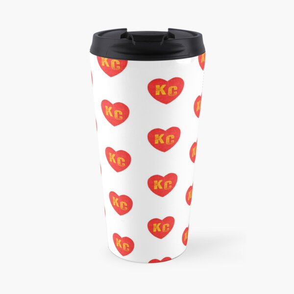 KC Heart Kansas City Hearts I love Kc heart monogram KC Face mask Kansas City facemask Travel Mug