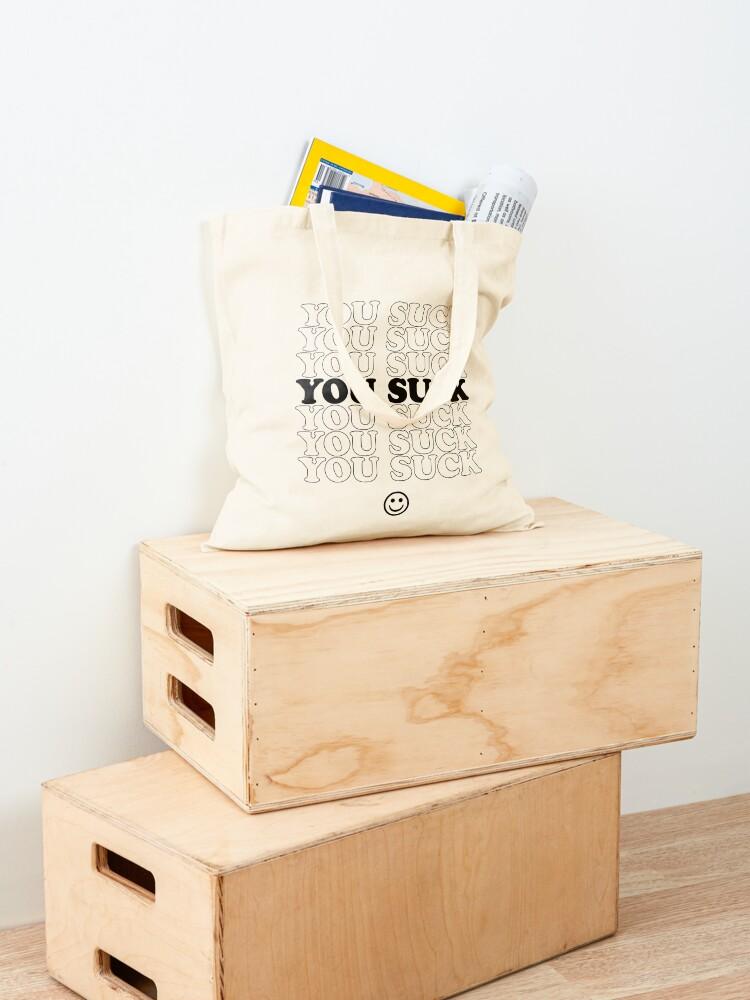 Alternate view of USuck - B&W Tote Bag