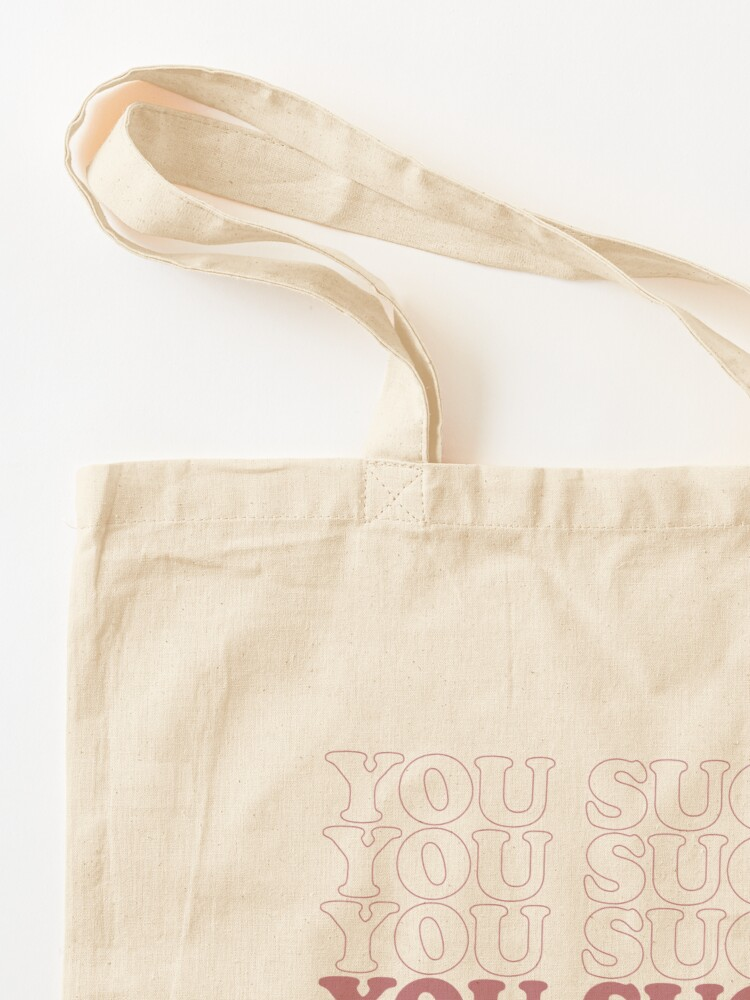 Alternate view of USuck - Rose Tote Bag