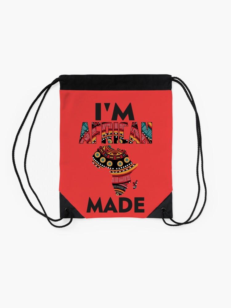 Alternate view of Im African Made Drawstring Bag