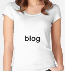 blog Women's Fitted Scoop T-Shirt
