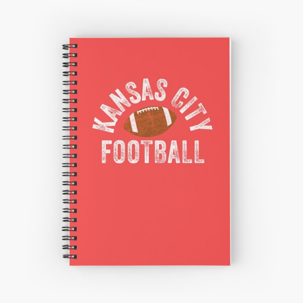 Kansas City Football Tribal KC Vintage football Kc Classic KC Face mask Kansas City facemask Spiral Notebook