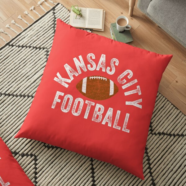 Kansas City Football Tribal KC Vintage football Kc Classic KC Face mask Kansas City facemask Floor Pillow