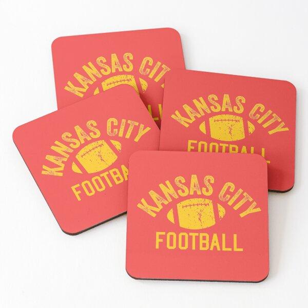 Football Kansas City football KC Unique Vintage Kc Original Coasters (Set of 4)