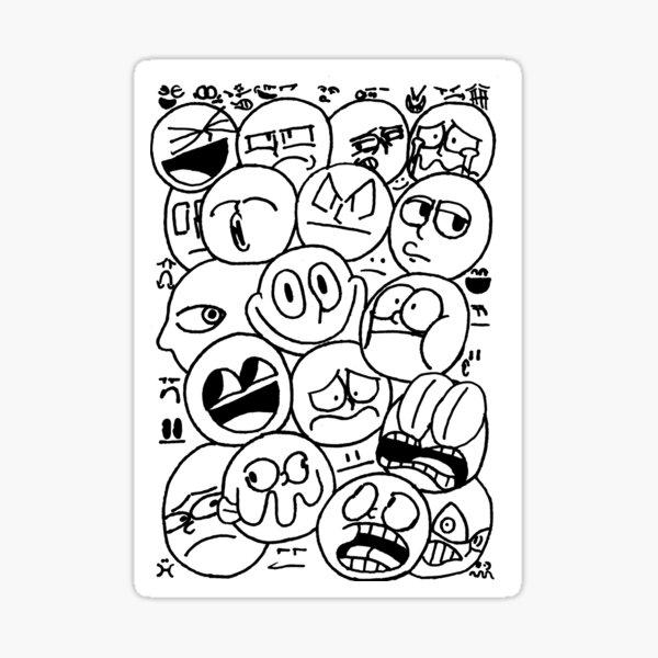 JB's BW Faces Sticker