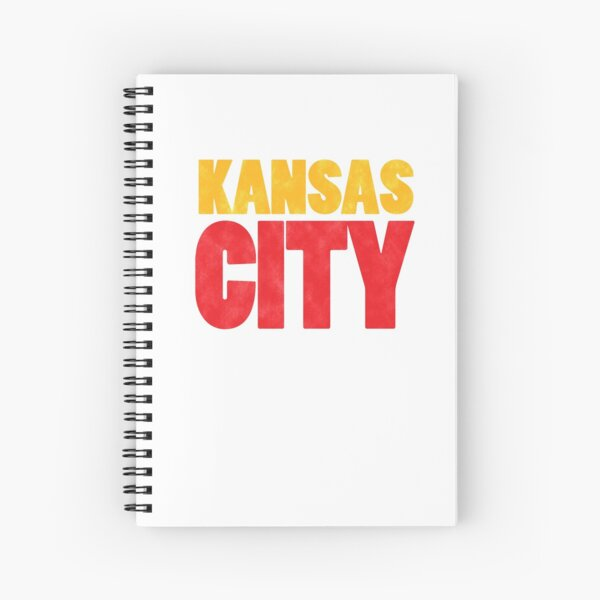 Kansas City Logo Kc Red & Yellow KC Cool Locals Gear KC Face mask Kansas City facemask Spiral Notebook