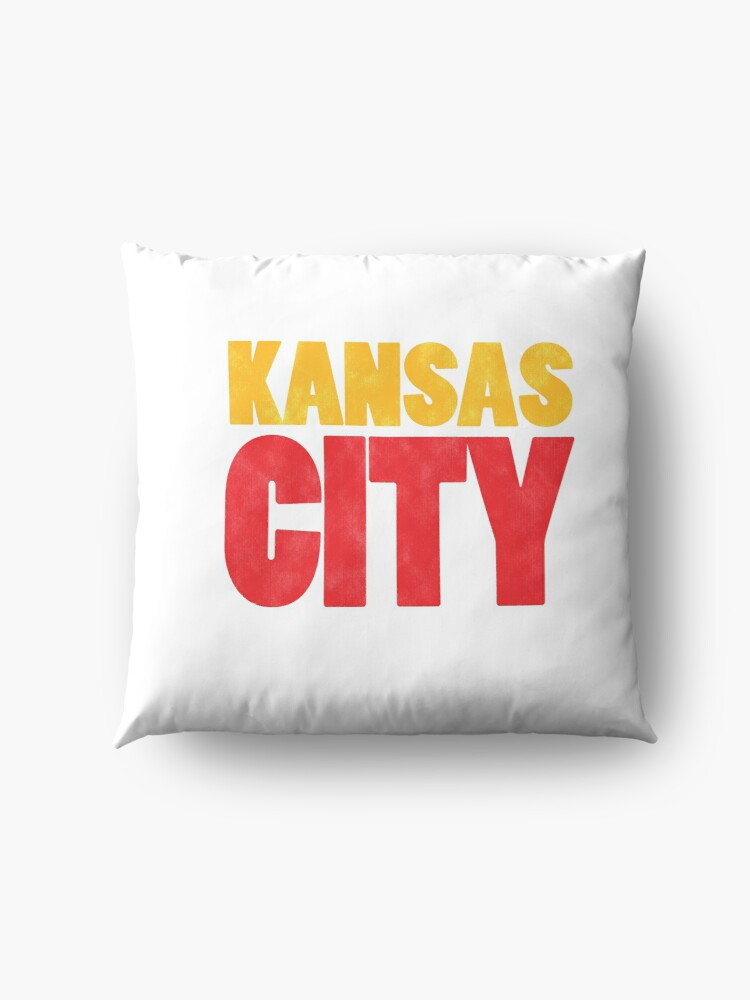 Alternate view of Kansas City Logo Kc Red & Yellow KC Cool Locals Gear KC Face mask Kansas City facemask Floor Pillow