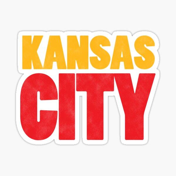 Kansas City Logo Kc Red & Yellow KC Cool Locals Gear KC Face mask Kansas City facemask Sticker
