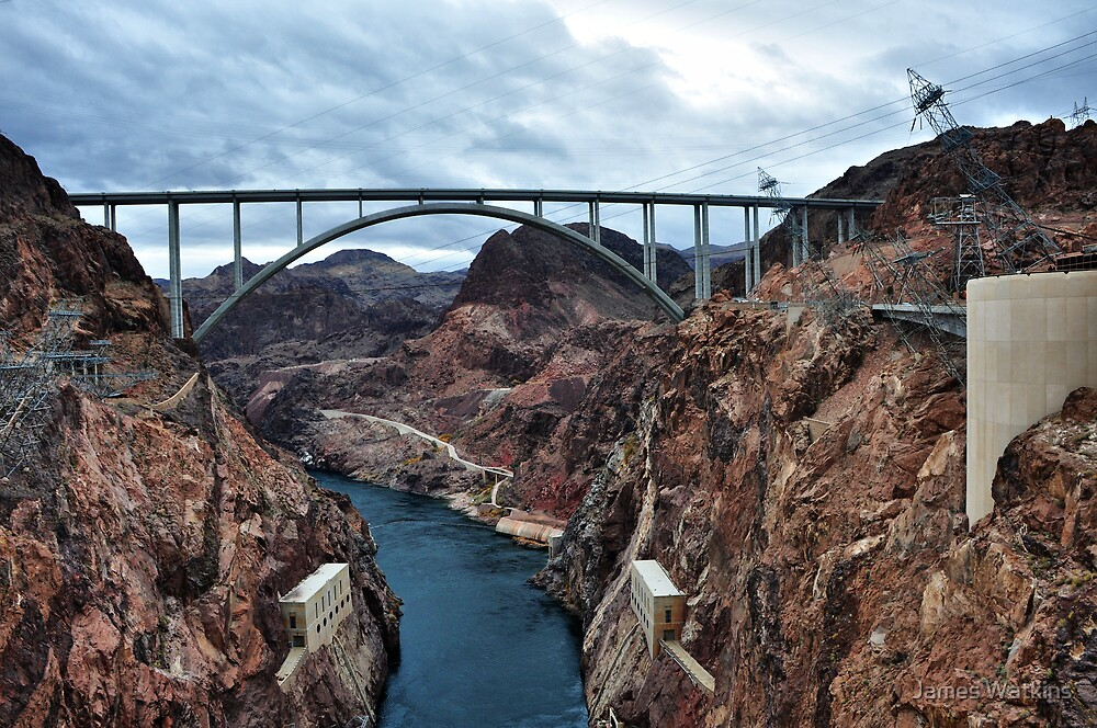 The Mike O'Callaghan - Pat Tillman Memorial Bridge by James Watkins