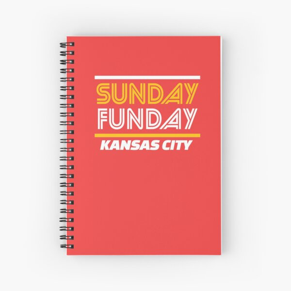 Sunday Funday Kansas City KC Red & Yellow Kingdom Kc Gear KC Face mask Kansas City facemask Spiral Notebook