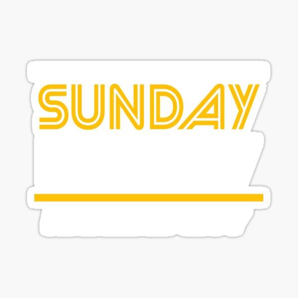 Sunday Funday Kansas City KC Red & Yellow Kingdom Kc Gear KC Face mask Kansas City facemask Sticker