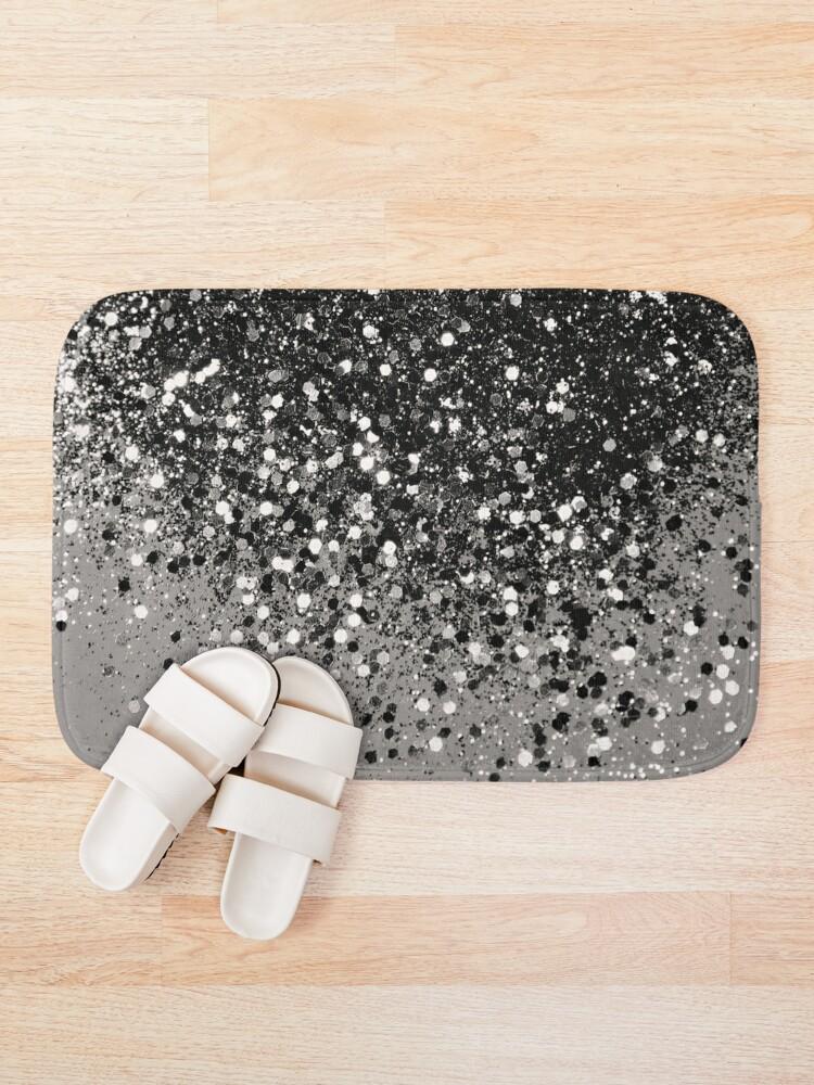 Alternate view of Silver Gray Glitter #1 #shiny #decor #art Bath Mat