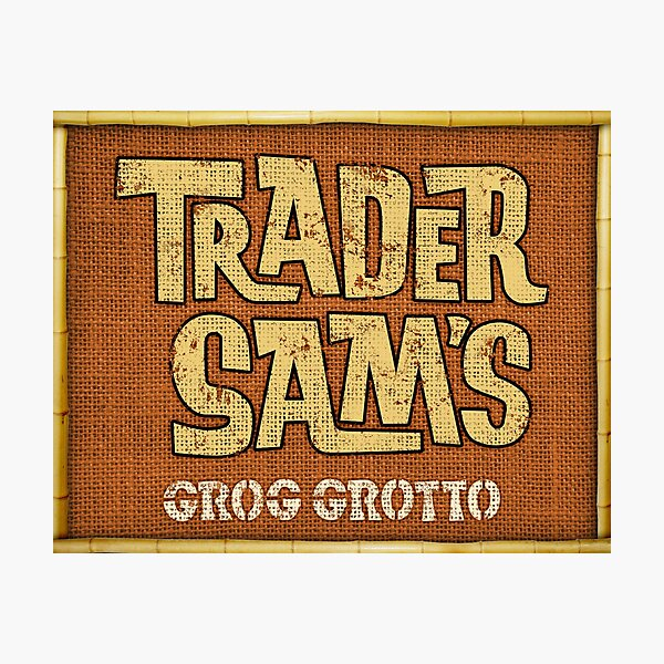 Trader Sam's Grog Grotto Tiki Bar Menu Sign Polynesian Village Photographic Print