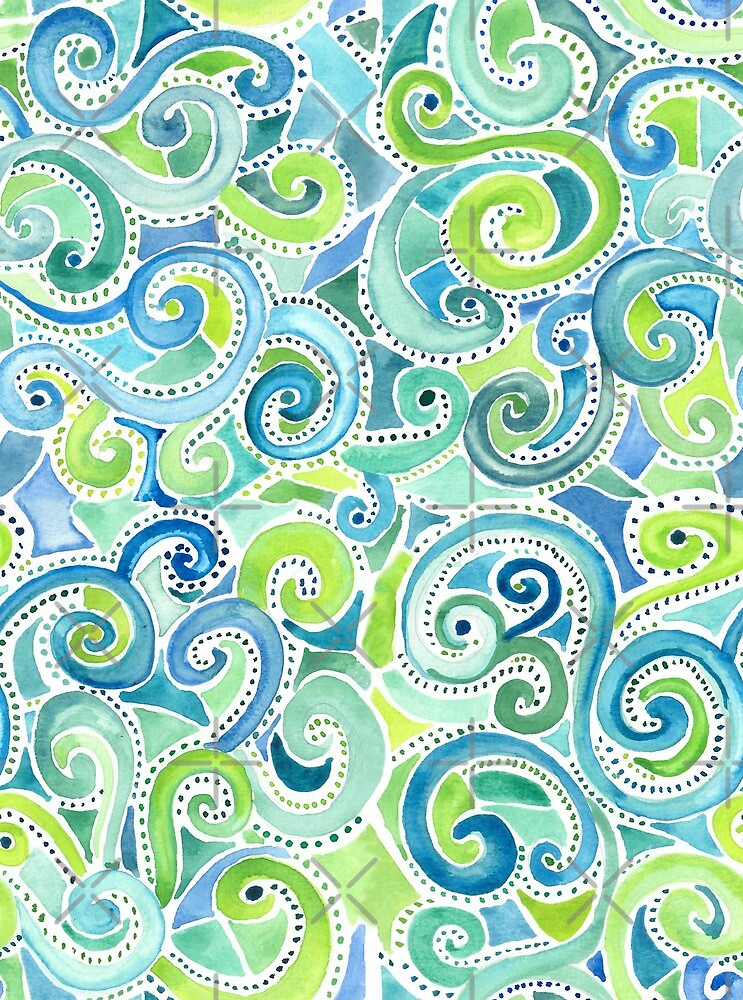 Swirly Spiral Watercolor by creativinchi