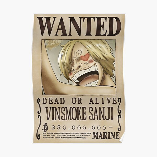 Sanji second wanted poster Poster