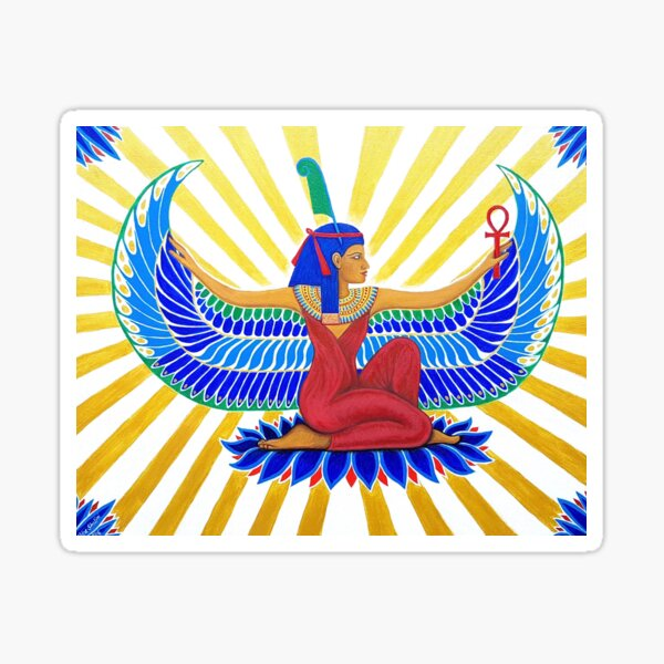 Maat Egyptian Goddess of Truth and Balance Sticker