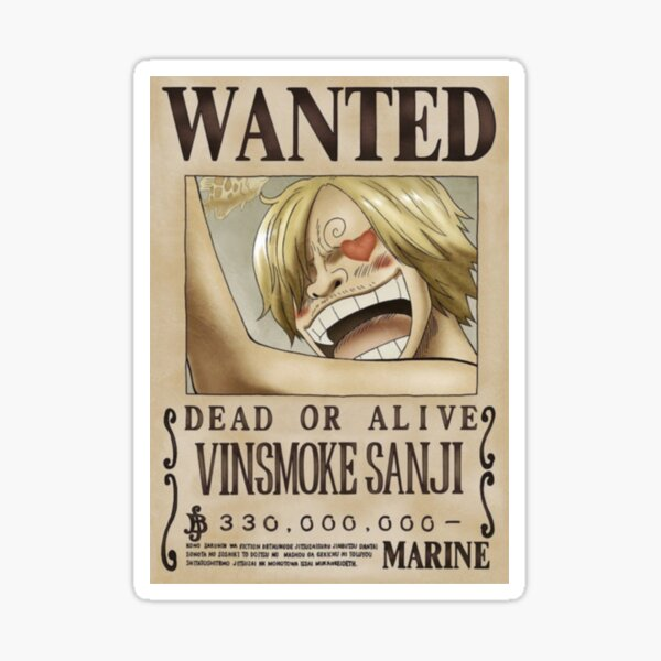 Sanji segundo cartel deseado Pegatina