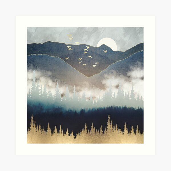 Blue Mountain Mist Art Print