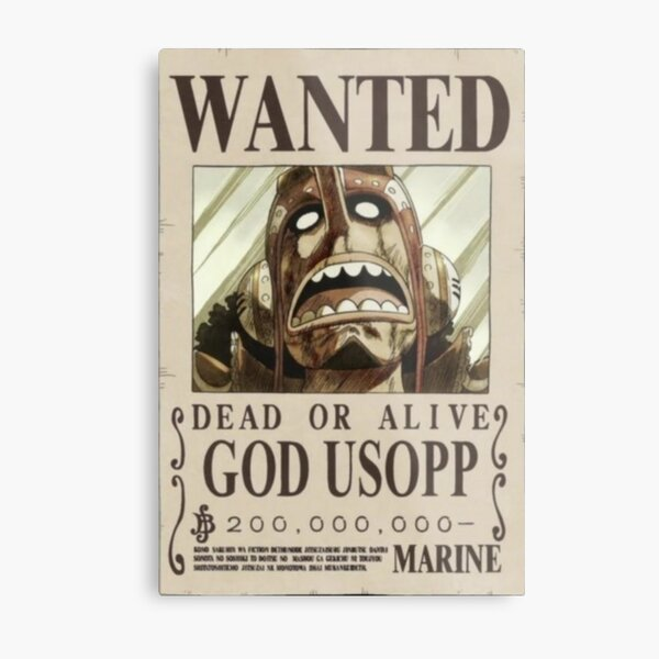 Usopp second wanted poster Metal Print