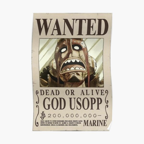 Usopp second wanted poster Poster
