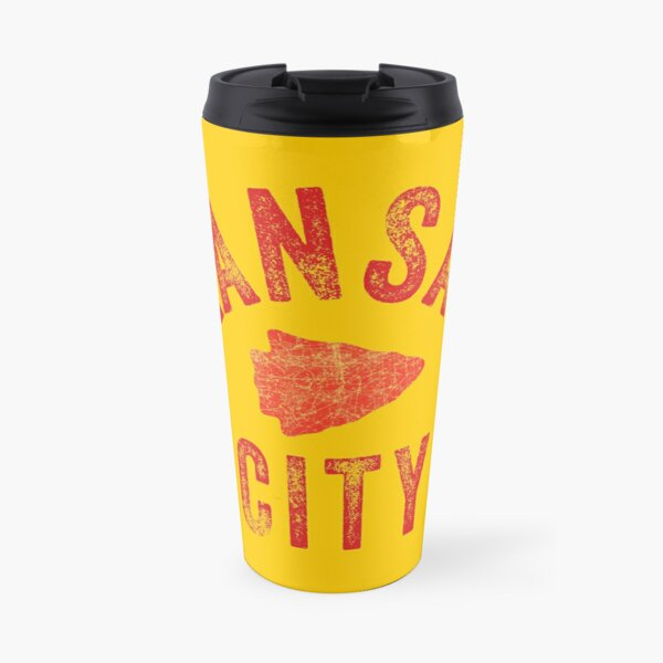 KC Face mask Kansas City facemask Classic Kansas City Football KC Yellow & Red Kingdom Football Kc Gear Travel Mug