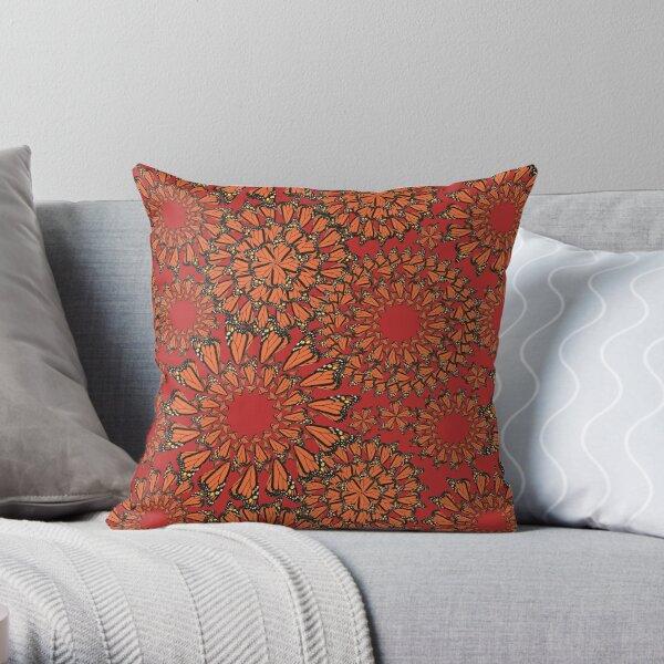 Mariposa II Cambria in Persimmon Throw Pillow