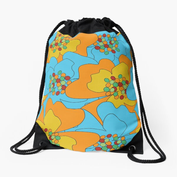 Summer Flowers Delight 1 Drawstring Bag