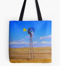 Land, sky and wind Tote Bag