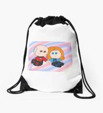 Picard x Crusher Chibis Drawstring Bag
