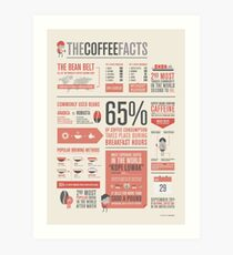 THE COFFEE FACTS – Infographic Poster Art Print