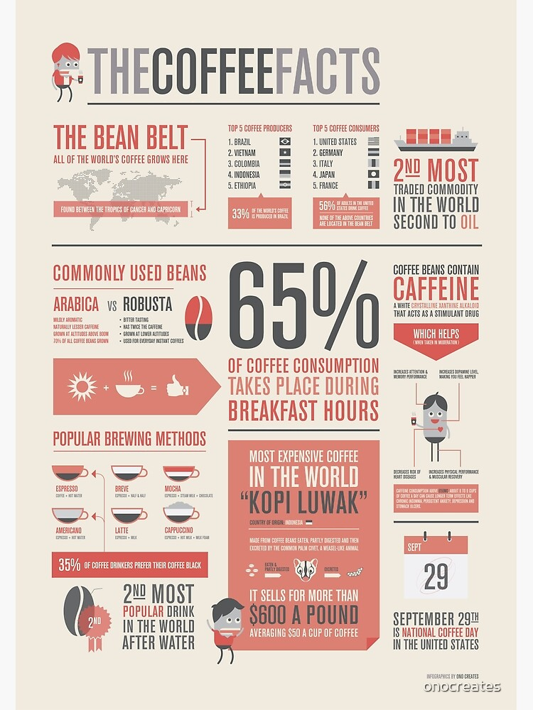 THE COFFEE FACTS –Infographic Poster by onocreates