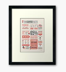 THE COFFEE FACTS –Infographic Poster Framed Print