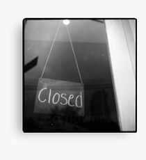 """""""closed"""" - surry hills coffee culture Canvas Print"""