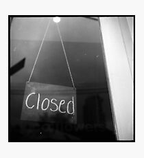 """""""closed"""" - surry hills coffee culture Photographic Print"""