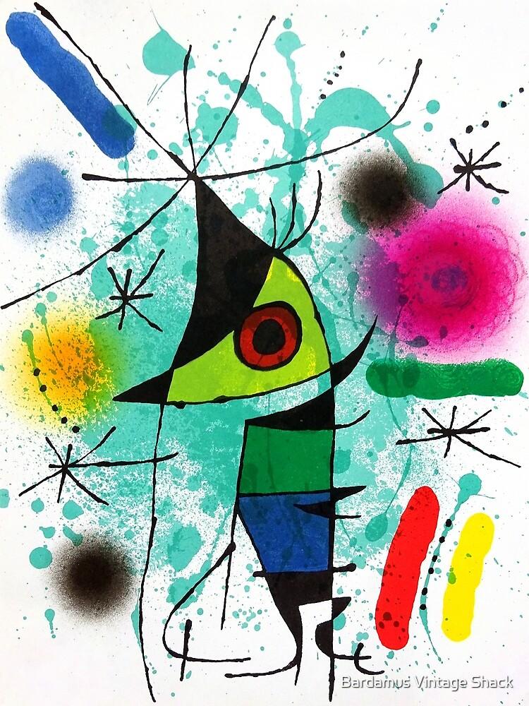 Miro's Penguin - Vintage Modern Art Print by SamKovac