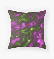 Violet Green Liquid Throw Pillow