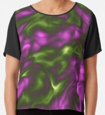 Violet Green Liquid Chiffon Top