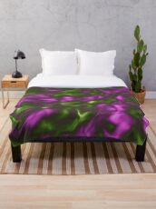 Violet Green Liquid Throw Blanket
