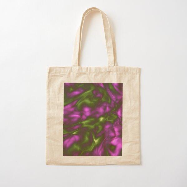 Violet Green Liquid Cotton Tote Bag