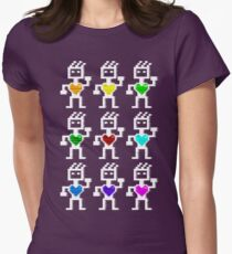 Hearty robots Womens Fitted T-Shirt
