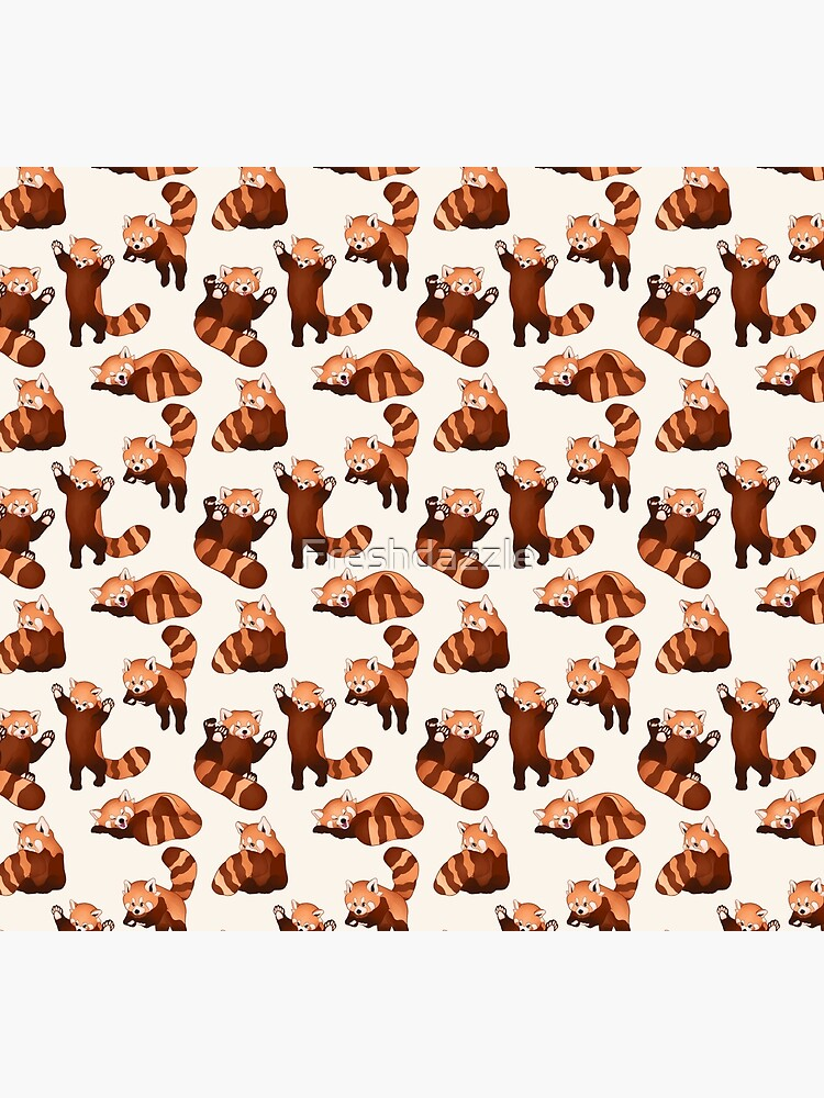 Red Panda Pattern by Freshdazzle