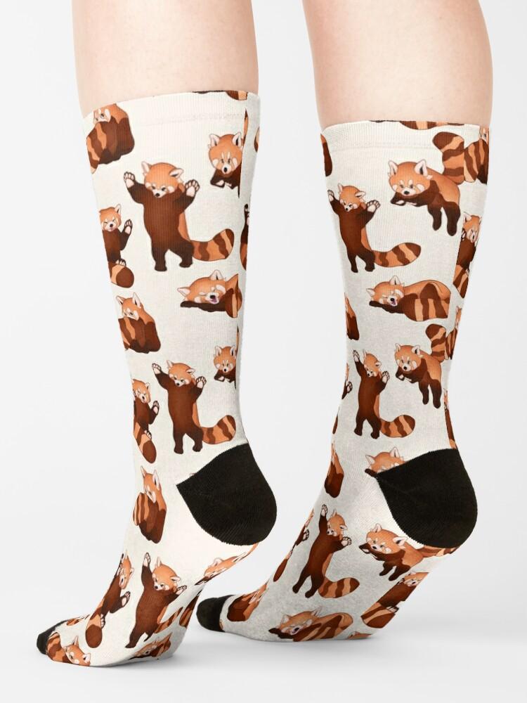 Alternate view of Red Panda Pattern Socks